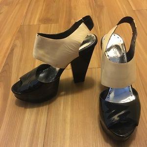 BCBGirls Black & Off White Heels